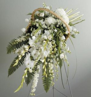Sophistication Willow Basket Spray