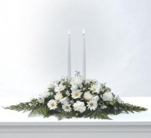 Illumination of White Centerpiece