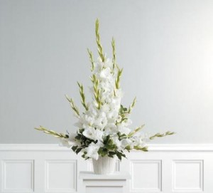 Dignity in White Arrangement