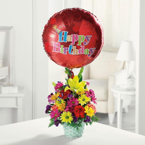 Happy Birthday Basket D Errico Mcglynn Flowers
